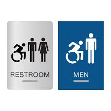 new york ada restroom signs new york braille bathroom signs