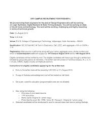 B Tech Fresher Resume Standard Resume Format For Engineers Sample Standard Resume