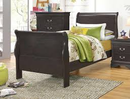 Louis Philippe Sleigh Bed Coaster Hershel Louis Philippe Bedroom Collection Dark Grey