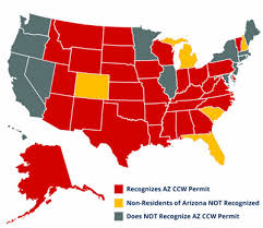 pa carry permit reciprocity map concealed carry states map my