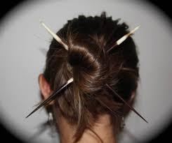 hair chopsticks porcupine quill hair sticks chopsticks bun felt