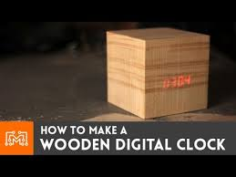 How To Make Wooden Desk Lamp by Wooden Digital Clock How To Youtube