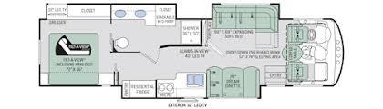 Rv Floor Plans Class A Challenger Class A Motorhomes Floor Plans Thor Motor Coach