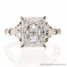 Cubic Zirconia Wedding Rings by Cubic Zirconia 5 Carat Radiant Engagement Ring My Faux Diamond