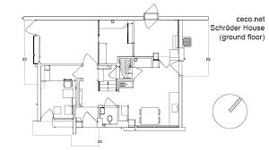 free autocad floor plans rietveld schroder house in utrecht ground floor block in