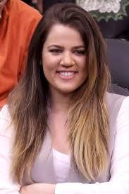 ombre straight hair khloe kardashian hairstyles long