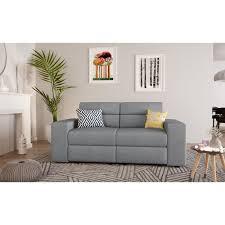 canape de relaxation tilio canapé de relaxation 2 places tissu gris clair