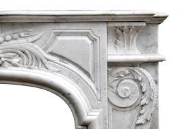 Marble Fireplaces For Sale French Louis Xiv Style Carrara Marble Fireplace Mantel For Sale