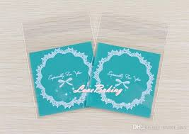 cheapest place to buy wrapping paper blue lace bow decoration cookie bag self adhesive plastic bags