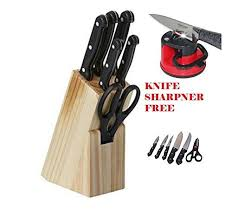 7 pcs best kitchen knife set with wooden block stand at rs - Best Selling Kitchen Knives