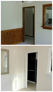 Painting Stained Wood Trim Best White Paint For Trim Bedroom And Living Room Image Collections