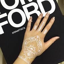 5 sheets white henna temporary tattoos metallic temporary