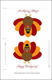 printable thanksgiving standing table decoration by kate net
