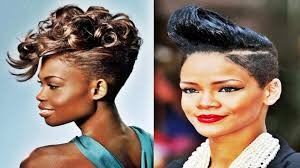 black fauxhawk hairstyle for african american womens 2016 youtube
