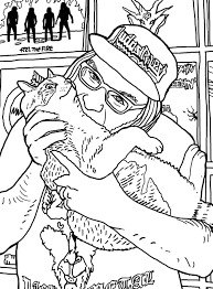 metal cats coloring book merges favorite