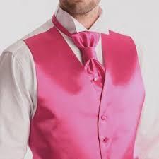lavalli re mariage lavalliere ou cravate satin fuschia avec pochette assortie à 59 00