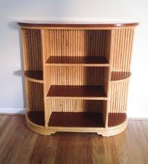 Rattan Bookcase Paul Frankl Style Rattan Bamboo Display Bookcase 450 Tiki Central