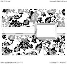 Halloween Invitation Borders by Royalty Free Rf Clipart Illustration Of A Formal Black And White