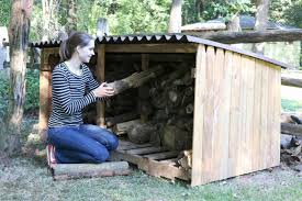 how to build an outdoor firewood storage shed how tos diy