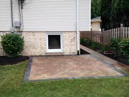family paver patio in arlington heights landscaping and