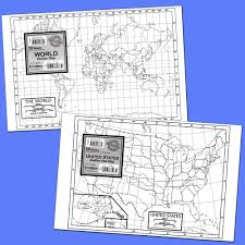 50 States Blank Map by World Outline Study Map Set Of 50 Maps Social Studies Teacher U0027s