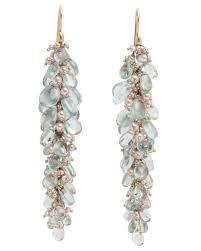 ted muehling earrings ted muehling 18k aquamarine and pearl pussywillow earrings