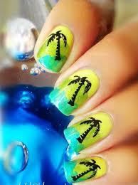 summer palm tree nail art design everything nails pinterest