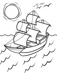 decoration mayflower coloring page pilgrim ship colour