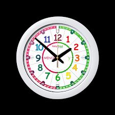 easyread time teacher rainbow past u0026 to wall clock spanish