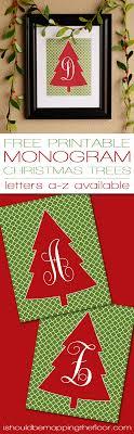 monogram christmas i should be mopping the floor free monogram christmas tree printable