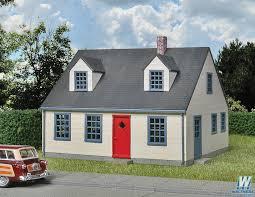 cape cod house walthers cape cod house kit 4 1 4 x 3 5 8 x 3 10 7 x 9 2 x