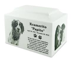 marble urns white marble standard size pet cremation urn with engraved photo