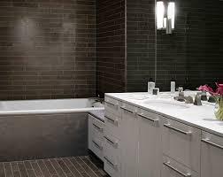 Contemporary Tile Bathroom - modern white shower tile with modern bathroom with white tile