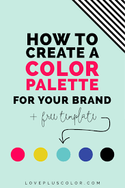 how to create a color palette for your brand free coloring