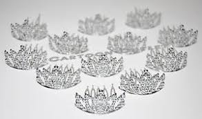 silver party favors 12 princess silver crowns mini plastic tiara birthday party favors