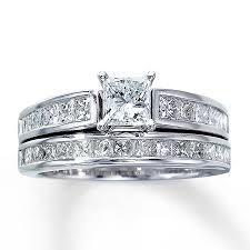 kay jewelers engagement rings kay diamond bridal set 2 ct tw princess cut 14k white gold