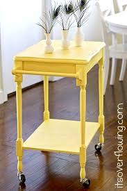 small table on wheels curbside table turns kitchen cart its overflowing