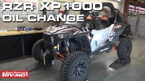 polaris rzr xp 1000 oil change youtube