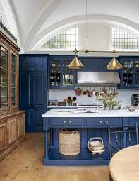 blue kitchen cabinet paint uk kitchen cabinets and units house garden