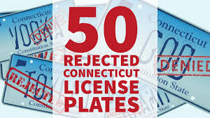 Banned Vanity Plates 50 Rejected And Banned Connecticut Vanity License Plates Youtube