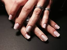 matte pink and white ombré acrylic overlay nails by ty nails