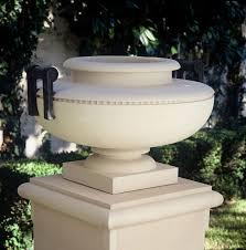 Urn Planters With Pedestal Atlantis Urn With Bronze Planters Fine Cast Stone Urns