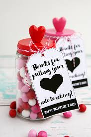 valentines gifts for thanks for putting your heart into teaching gift and