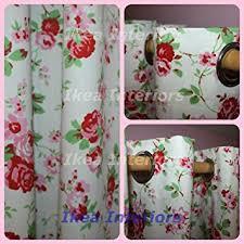 Curtains 145 Cm Drop Cath Kidston For Ikea Rosali Eyelet Curtains 145cm X 300cm