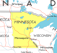 minnesota on map map of minnesota in the usa