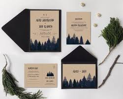 mountain wedding invitations 30 charming winter wedding stationery ideas weddingomania