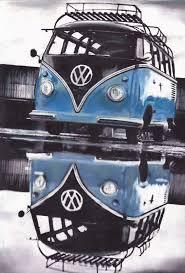 volkswagen van cartoon perspective vw blue split screen volkswagen camper van limited