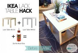 gold side table ikea 20 ikea lack table hacks hative