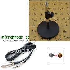 microphone de bureau professionnel de bureau réglable microphone support en métal et