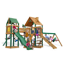 Wooden Swing Set Canopy by Furniture Mesmerizing Swing Set By Gorilla Playsets Plus Green